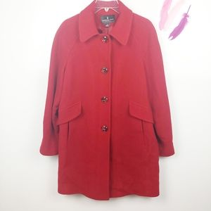 Size Large | London Fog Red Wool Peacoat